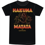 Mens T Shirt Lion King Hakuna Matata, Black
