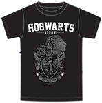 Adult Unisex T Shirt Harry Potter Gryffindor Crest, Black