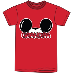 Adult Grandpa Basic Crew Tee, Red
