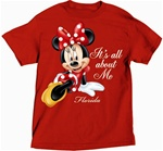 Womens T Shirt All About Me Minnie, Red (Florida Namedrop)