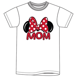 Adult Womens Tee Shirt Mom Fan, White
