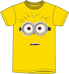 Adult Unisex T Shirt Minions Surprise Tee, Yellow
