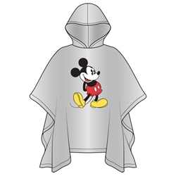 Adult Classic Mickey Standing Poncho (No Namedrop)