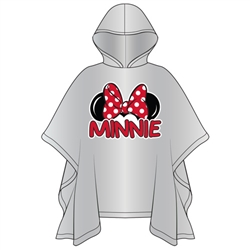 Adult Minnie Family Rain Poncho