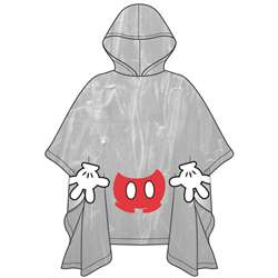 Adult Mickey Parts Rain Poncho