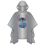 Adult Happy Stitch Rain Poncho, Clear