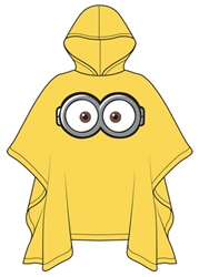 Adult Poncho Raincoat Minions One Eyed, Yellow
