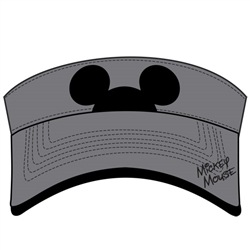 Adult Hidden Mickey Visor, Gray