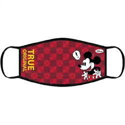 Adult Face Covering Boxed Mickey, Maroon