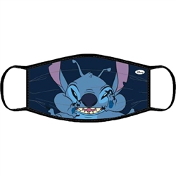 Adult Face Covering Crazy Stitch, Blue