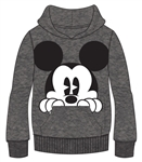 Adult Mickey Peeking Pullover Hoodie, Gray