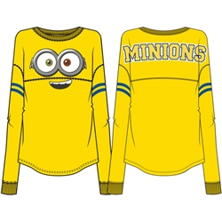 Adult Minions Collegiate Unisex Long Sleeve Top, Yellow