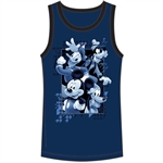 Youth Tank Fab 4 Encore Mickey Donald Goofy Pluto, Navy Blue