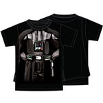 Youth Boys Star Wars Darth Vader Cape Tee, Black