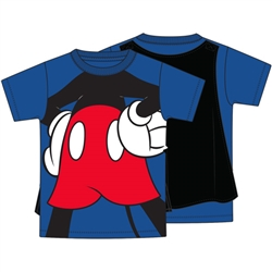 Youth Boys Mickey Mouse Cape Tee, Blue Black