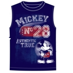 Men's Tank Shooter Mickey Mouse Authentic, Navy