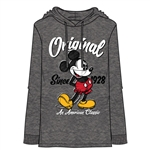 Adult Men's 1928 Mickey Mouse Lightweight Hoodie, Charcoal Gray