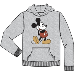 Youth Head to Toe Mickey Pullover Hoodie, Gray