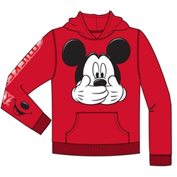 Youth Mickey Big Smile Pullover Hoodie, Red