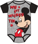 Infant Onesie My First Mickey, Black Gray