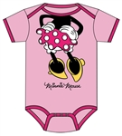 Infant Onesie I am Minnie Headless, Light Pink