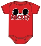 Infant Onesie Mickey Family, Red