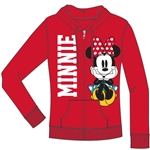 Junior Minnie Think Bold Zip Up Hoodie, Red