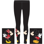 Junior Kissing Mickey & Minnie Leggings, Red Black