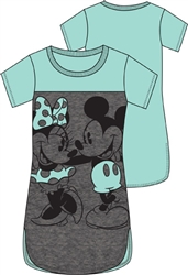 Junior Scoop Neck Tunic Mickey Minnie 2 Nice