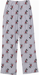 Womens Pajama Pant Kickback Mickey, Grey Heather