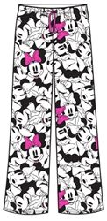 Adult Pant So Minnie Faces, White Pink
