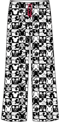 Womens Pajama Pant Mickey Checkers, White