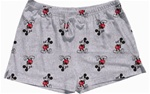 Womens Pajama Short Kickback Mickey, Grey Heather