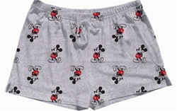 Womens Short Kickback Mickey, Grey Heather