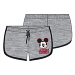 Junior Short Hello Mickey Mouse, Gray Black