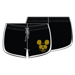 Junior Mickey Text Lounge Short, Black White