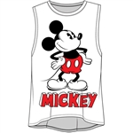 Junior Fashion Tank Top Mickey Mouse Name, White