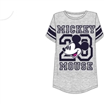 Junior Fashion Football Tee Mickey Mouse Head, Gray