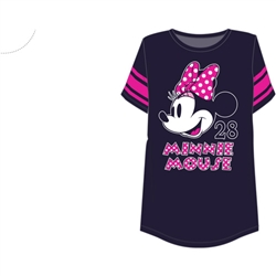 Junior Fashion Football Tee Minnie Mouse Head, Navy