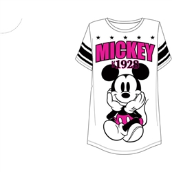 Junior Fashion Football Tee Mickey Mouse 28, White