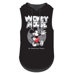 Junior Fashion Hooded Tank Top Mickey Mouse Classic, Black