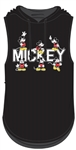 Junior Multiple Mickeys Hooded Tank, Black
