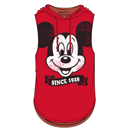 f5fe8a5235fbe7 Junior Fashion Hooded Tank Top Big Face Mickey Mouse Since 1928 ...