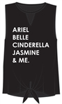 Junior Fashion Tank Tie Front Princess and Me, Black