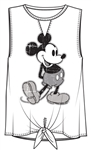 Junior Fashion Tank Tie Front Mickey Mouse SJ, White