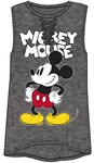 Junior Fashion Hi Lo Mickey Mouse SJ, Charcoal Gray