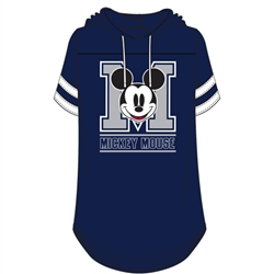 Junior Fashion Hooded Football Tee Mickey Mouse Club, Navy White