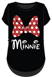 Junior Fashion Top Minnie Mom Bow, Black