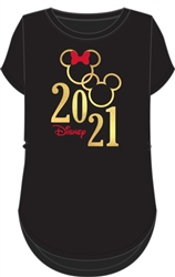 Junior 2021 Mickey Minnie Icon Loops, Black Gold