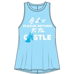 Junior Fashion Tank If Lost Princess Castle, Light Blue
